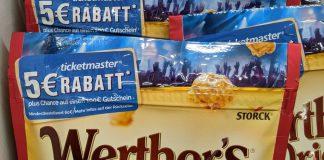 Werthers Original Caramel Popcorn: 5-Euro-Rabatt für Ticketmaster