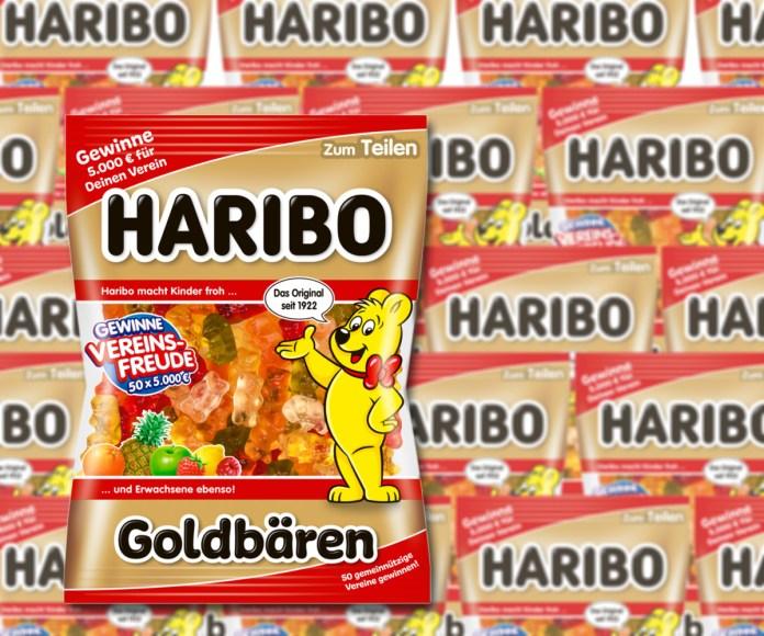Haribo Vereinsfreude: 50x 5000 Euro für Vereinskasse gewinnen - Code eingeben. Foto: Haribo
