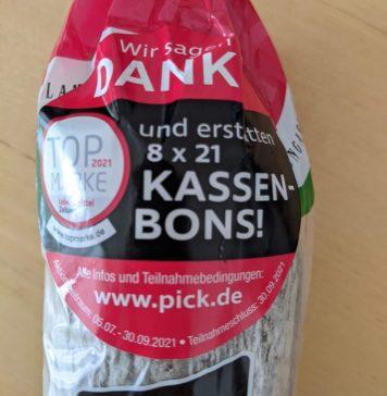 Pick Salami Gewinnspiel: Pick erstattet Kassenbon