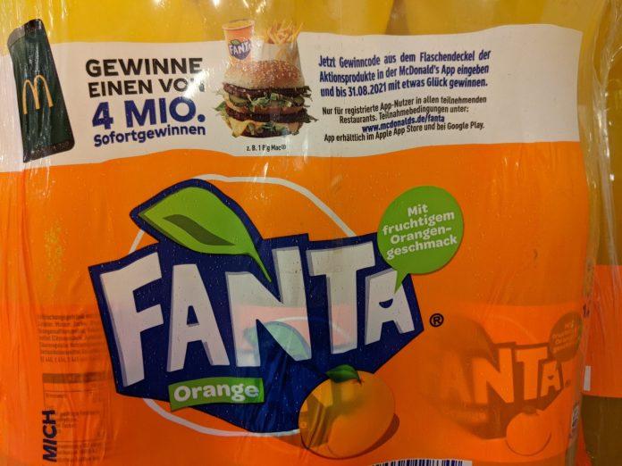McDonalds Das große Flaschenüberraschen. Fanta, Mezzo Mix, Sprite kaufen, Code eingeben - vier Millionen Sofortgewinne
