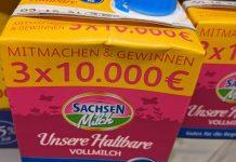 Sachsenmilch Singende Milch: 3x 10.000 Euro gewinnen