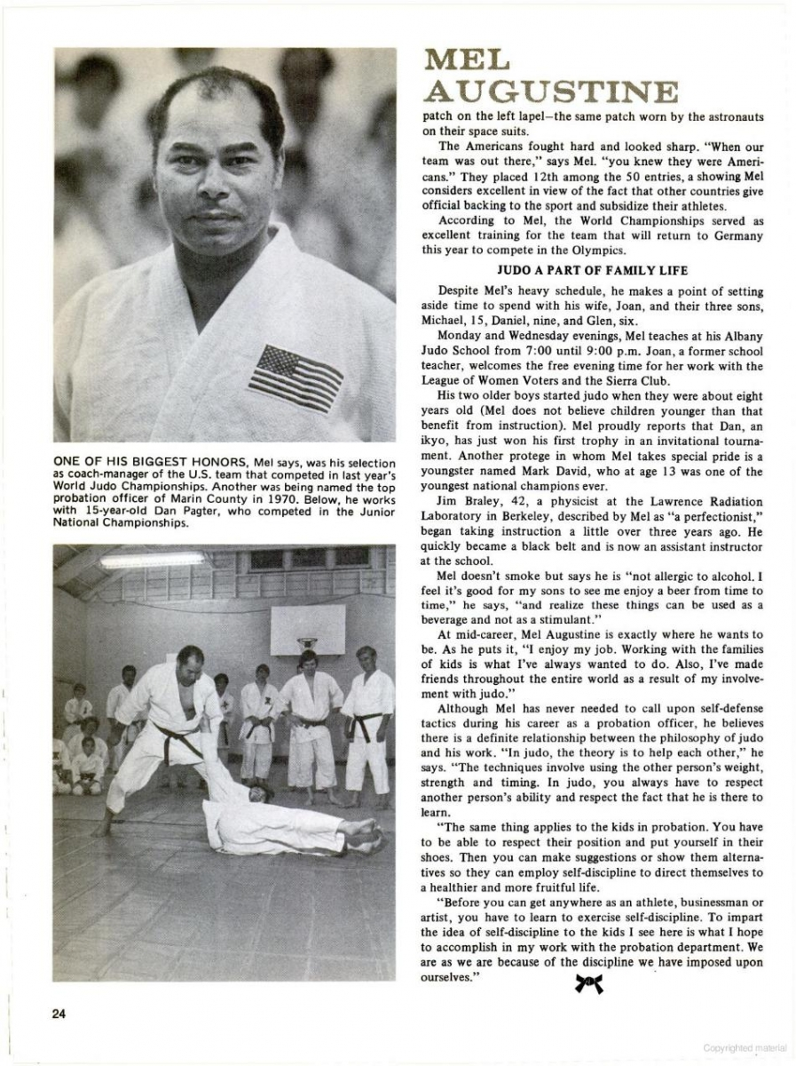 Image result for Mel Augustine + Judo