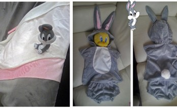 Toddler costume ideas: Bugs Bunny from Baby Looney Tunes cosplay tutorial