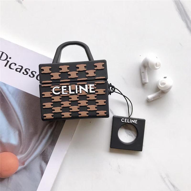 CELINE airpodspro ケース シリコン バッグ風 セリーヌ エアーポッズ pro ケース 韓国 airpods1/2 保護カバー 可愛い イヤホン収納ケース 充電 おすすめ