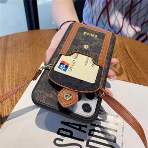 iphone12pro max ケース 斜 めがけ ブランド CELINE アイフォン12/11proケース カード入れ セリーヌ iphonexs max/se2 スマホカバー パロディ風 iphone8/7plus ケース 人気 女子 韓国