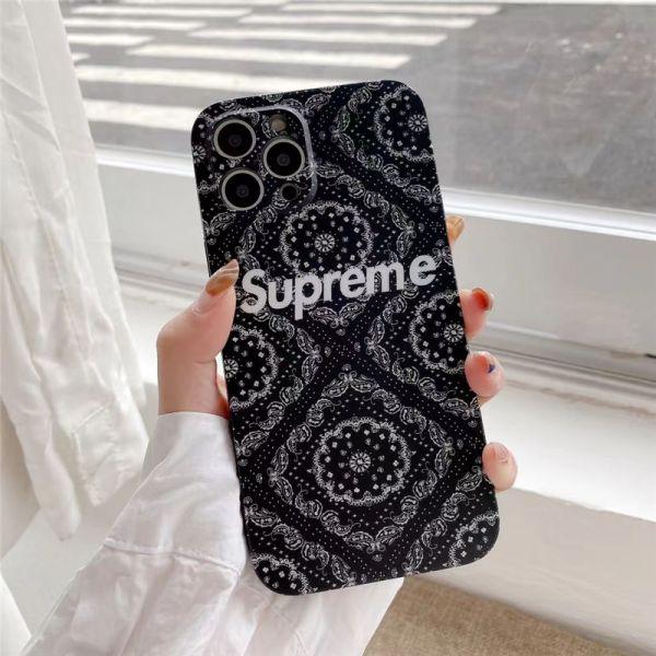 シュプリーム 携帯 ケース iphone12 花柄 SUPREME iphone12proケース レトロ アイフォン11pro max/11/xs max 携帯カバー お揃い ブランド iphonese 第二世代 ケース 頑丈 かわいい