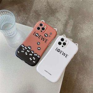 iFace風 iphone12ケース ロエベ まっくろ くろ すけ iphone12pro/11pro max カバー LOEWE 猫 耳 アイ フォン ケースxs/xr お揃い iphonese 第二世代 携帯カバー カメラ保護