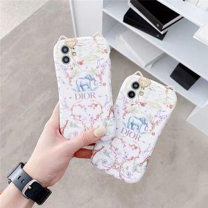 ディオール iphoneケース12pro 象柄 dior iphone12/11pro maxケース 猫耳 アイフェイス iphonex/xs max ケース おすすめ 女性 アイフォン ソフトカバーxr 安い 可愛い