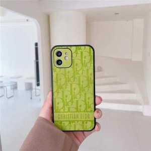 dior オブリーク iphone12pro/11pro ケース レトロ ディオール スマホケース iphone12 グリーン オレンジ かわいい iphnoe11/xs max カバー ペア アイフォンケースxr/se2 海外
