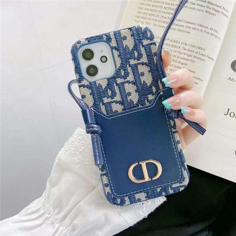 ディオール iphone12pro max/13 スマホケース ショルダー ブランド iphone12/11pro カバー 大人 女子 dior風 アイフォンxs/7/8ケース 背面収納