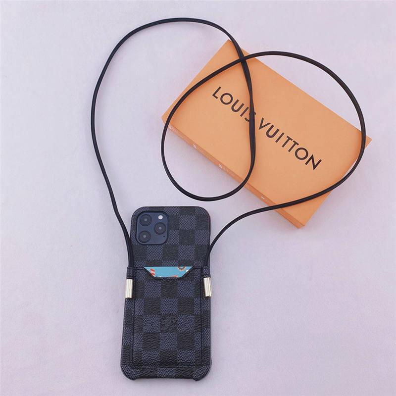 iphone13/13mini ケース ハイ ブランド メンズ vuttion iphone13pro maxケース ストラップ ヴィトン風 アイフォン12/12pro/11ケース 夫婦 お 揃い 携帯ケース iphonese2/x/xr カード収納