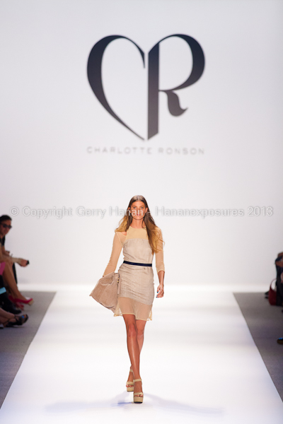 A model on the runway at the Charlotte Ronson SS2013 show at New York Mercedes-Benz Fashion Week.