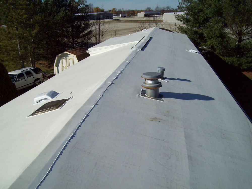 new rubber roof installed on rv - Rv Rubber Roof Repair