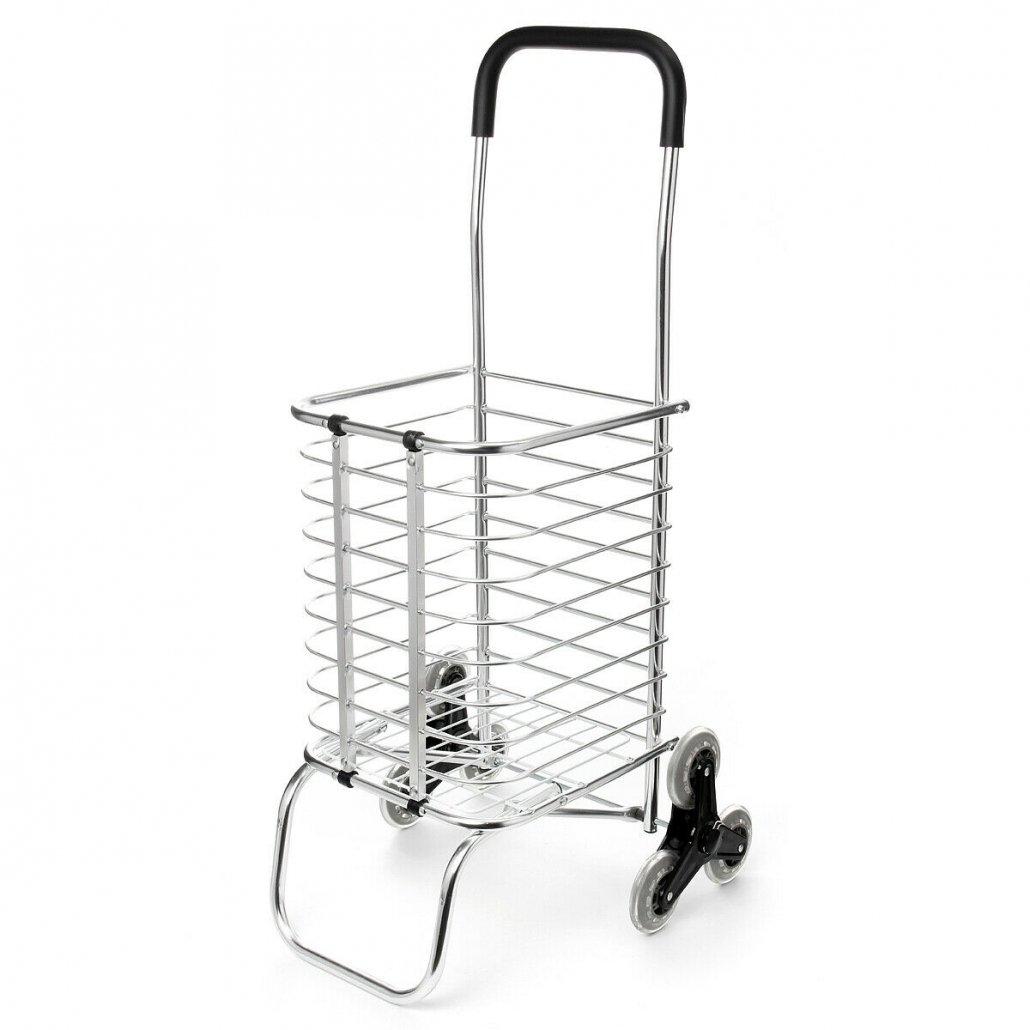 6 Wheels Folding Portable Stair Home Travel Shopping Cart