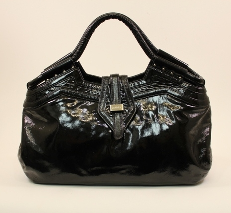 a0769420e828 Botkier – Black Patent Leather St. Tropez Vacation Tote