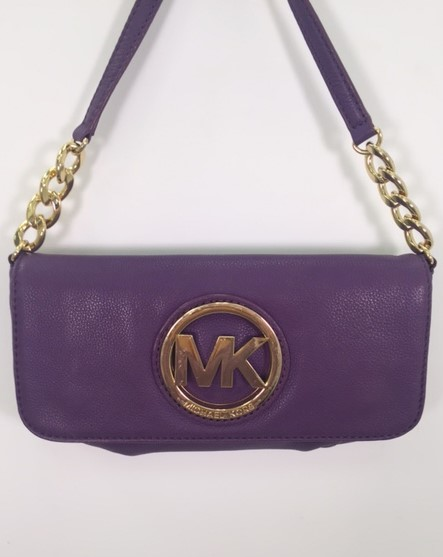 Michael Kors – Fulton Small Chain Shoulder Bag in Purple – Handbag  Consignment Shop ebdd487f17a4d
