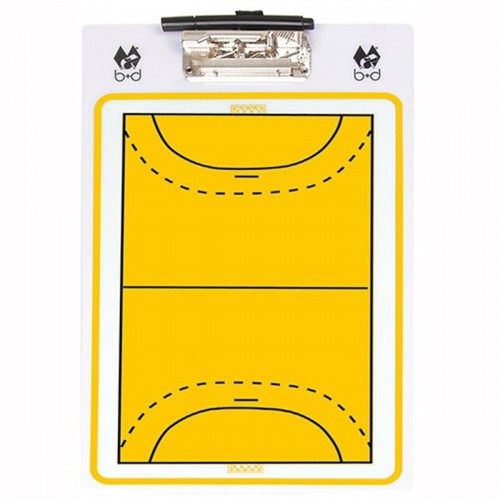 b d handball coach board basic gelb weiss