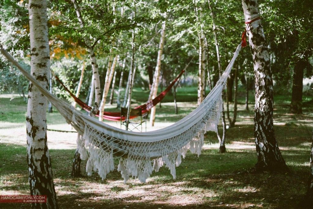 hammocks in el bolson patagonia argentina
