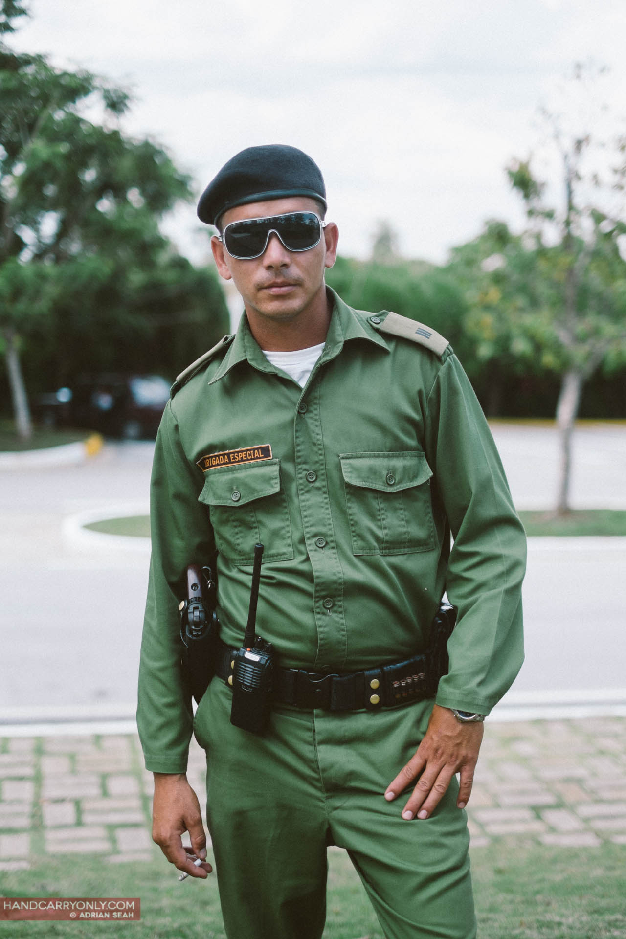 cuban police officer in uniform