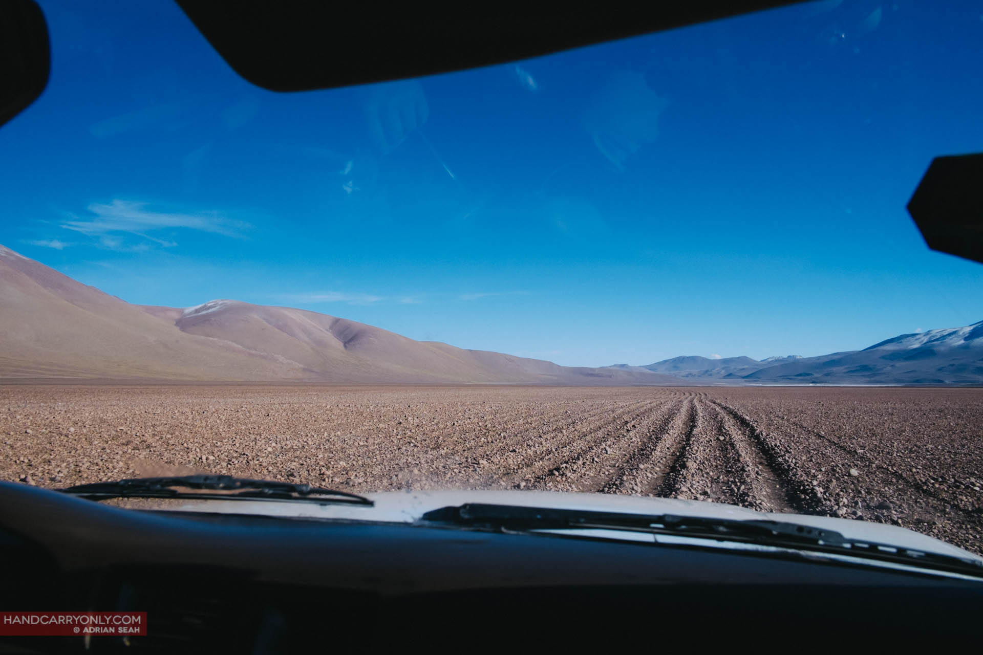 on the road bolivian altiplano