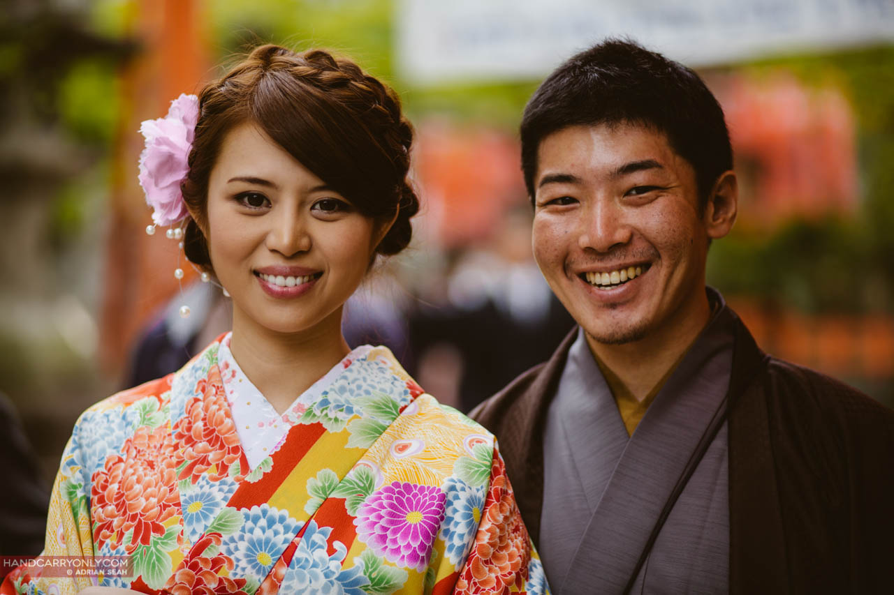 couple in yukata kyoto japan