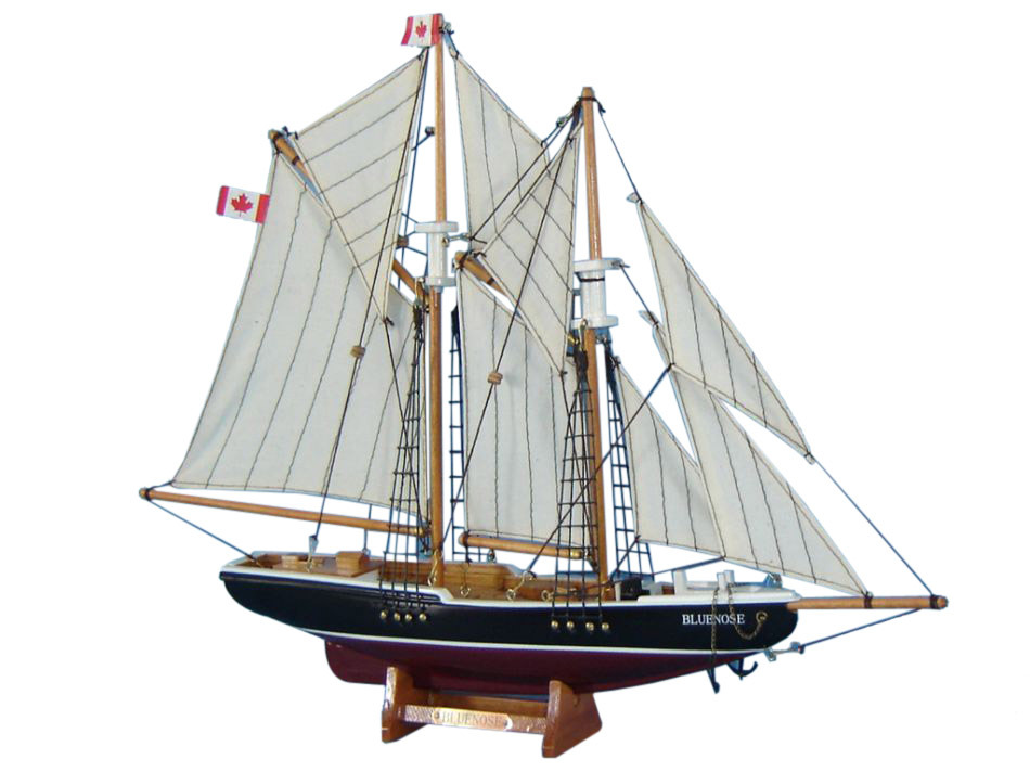Buy Wooden Bluenose Model Sailboat Decoration 17 Inch