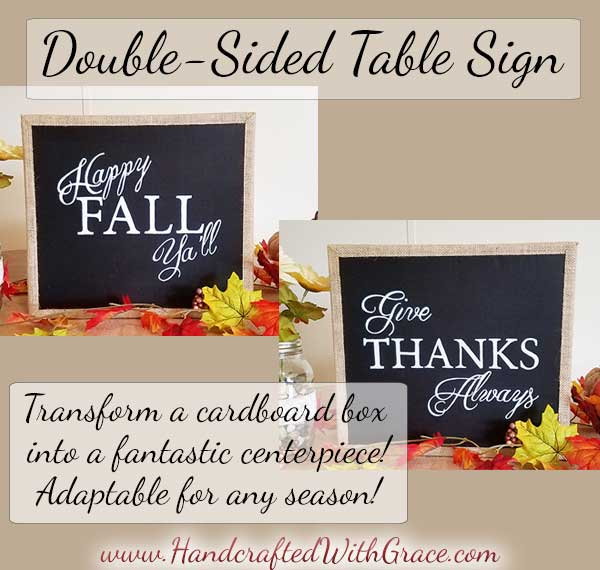 DIY Double-Sided Table Sign for Fall / Thanksgiving