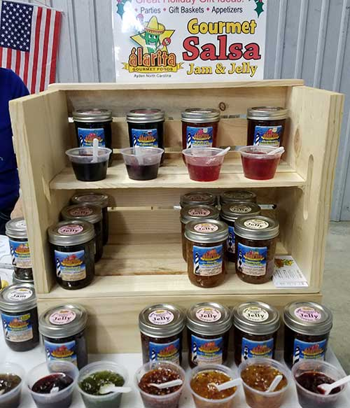Wonderful Day at the Coastal Carolina Christmas Arts Crafts and Gifts Show Alarita Gourmet Foods Booth