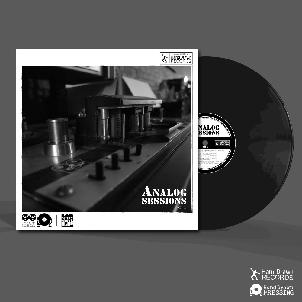 """""""Analog Sessions, Volume 1"""" by Various Artists // Hand Drawn Records // FRONT COVER 2"""