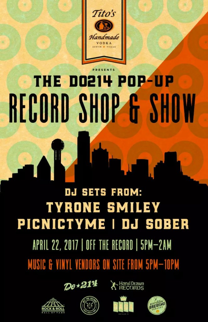 Do214 and Tito's Vodka: Pop-Up Record Shop, Saturday, April 22 @ Off The Record (Deep Ellum, TX)