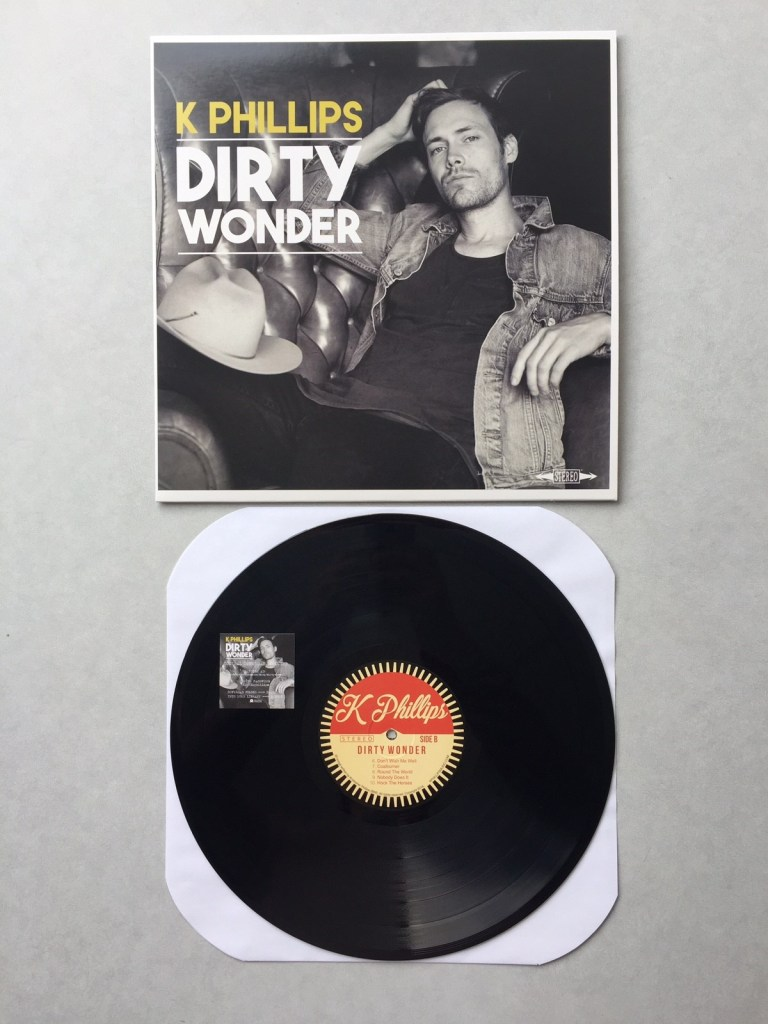 """Dirty Wonder"" by K Phillips // Vinyl LP // Hand Drawn Pressing"