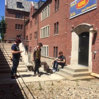 Sean Russell (Cut Throat Finches), Stephen Beatty (Un Chien), Brandon Callies (Brandon Callies Band) @ KURE Radio: Hand-Picked Tour, Part 1 // Photo by Honey Russell