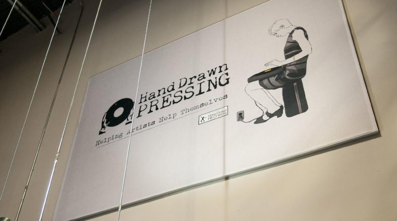 """Pricilla Pressing"" Banner // Photo Courtesy CrateDiggersDallas.com"