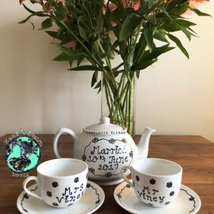 Hand Drawn Daisy Chain design teapot gift set from Charlotte Kleban & Hand Drawn World