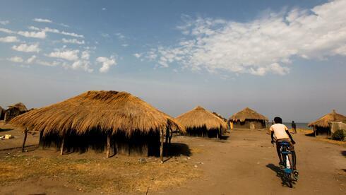 Strohhütten in Kampala.