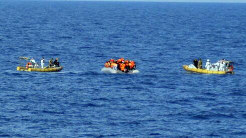 Lefkas Flüchtlinge