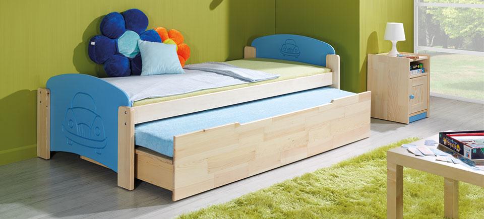 Stauraumbett oder Doppelbett mit Bettkasten 'Jas 2'