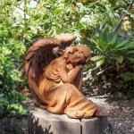 Engels Skulptur Grabwachter Trauernder Engel Aus Gusseisen Friedhofsengel