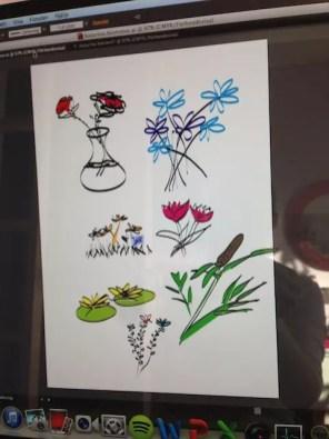 Testar ritplattan i Illustrator