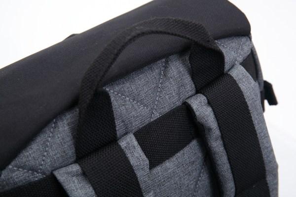 g.ride rugzak met laptopvak 24 liter grijs zwart 9 handvat