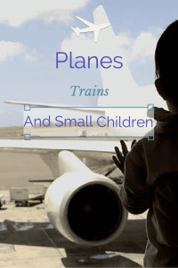 planes trains small children traveling