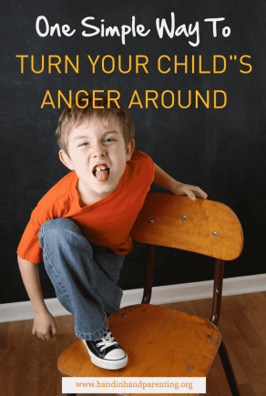 angry boy poking tongue out in post about responding to anger using play