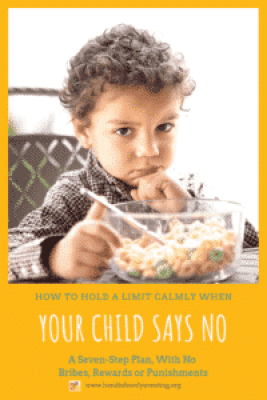 Parenting defiance gently: boy who doesn't want to eat his cereal