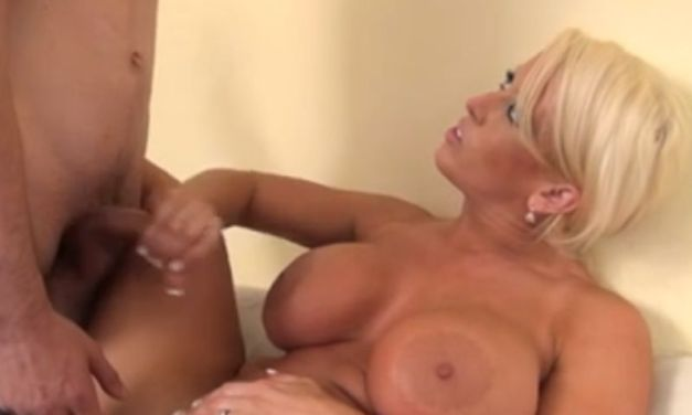 Hot busty mom is giving her stepson a handjob he will remember