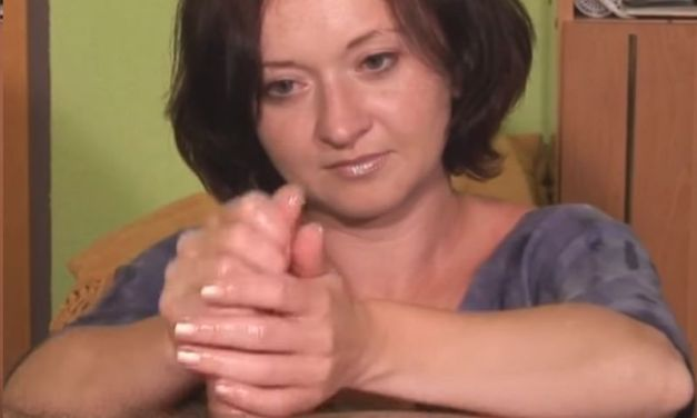The handjob is good, she only needs to work on the finish