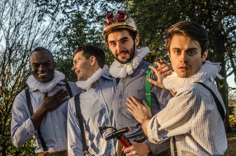 The HandleBards (L to R - Stanton Plummer-Cambridge, Paul Hilliar, Liam Mansfield, Matt Maltby)