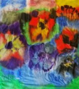 Seidentuch Blumen