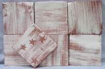 stars and white slip tiles