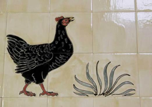 Bantam tiles Aga panel detail