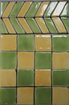 'Deco' tiles green squares